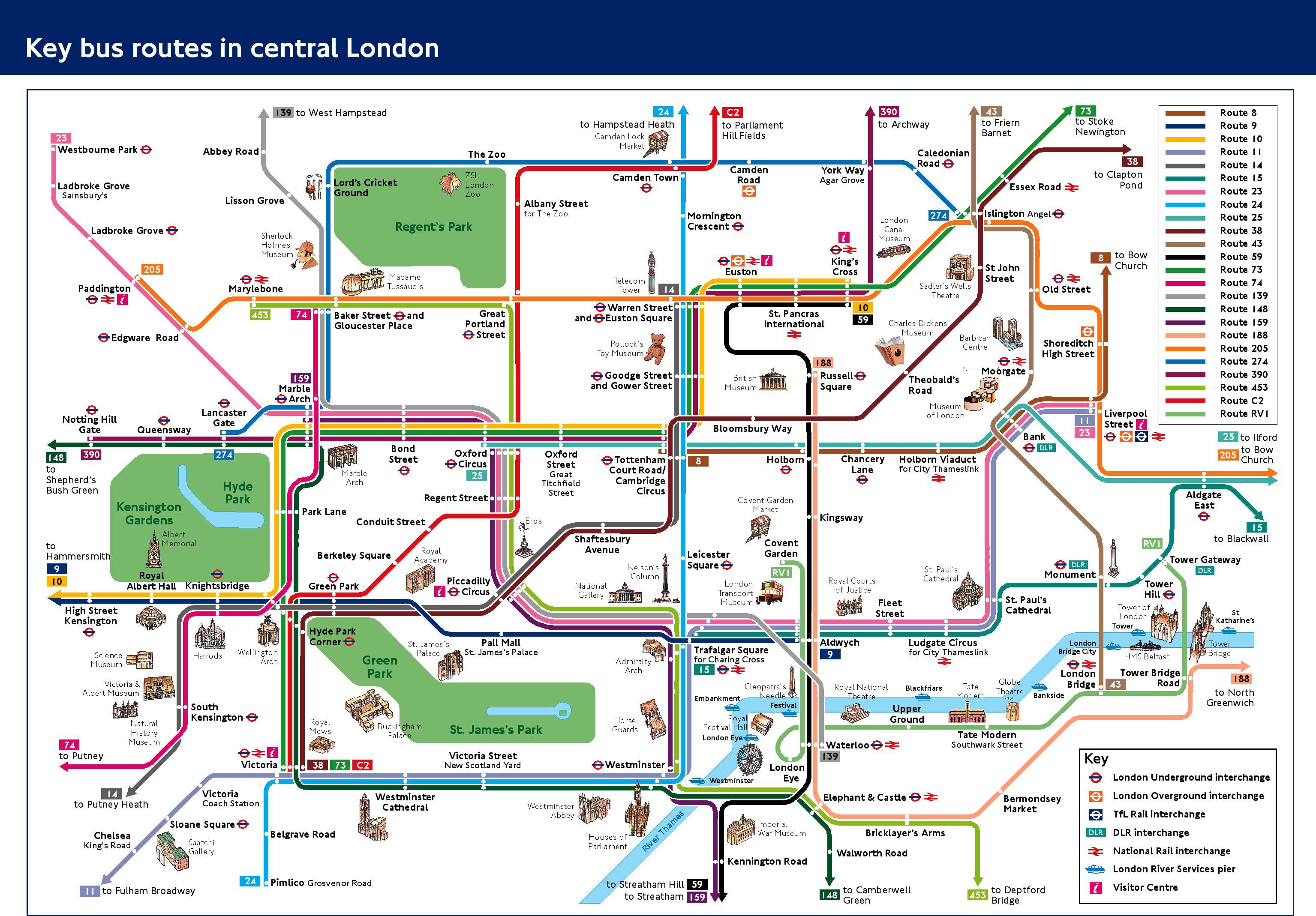 London Pass Attractions Map.Riding London S Double Decker Buses