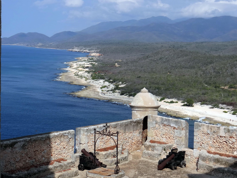 View of the Sea from Castillo de San Pedro del Morro outside of Santiago de Cuba