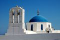 Low Angle View Of Church Against Blue Sky in Greece