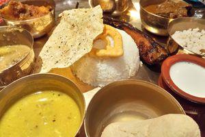 Kolkata, fish thali.