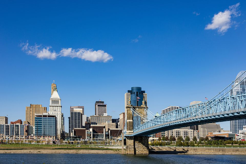 Cincinnati viewed from Covington, Kentucky