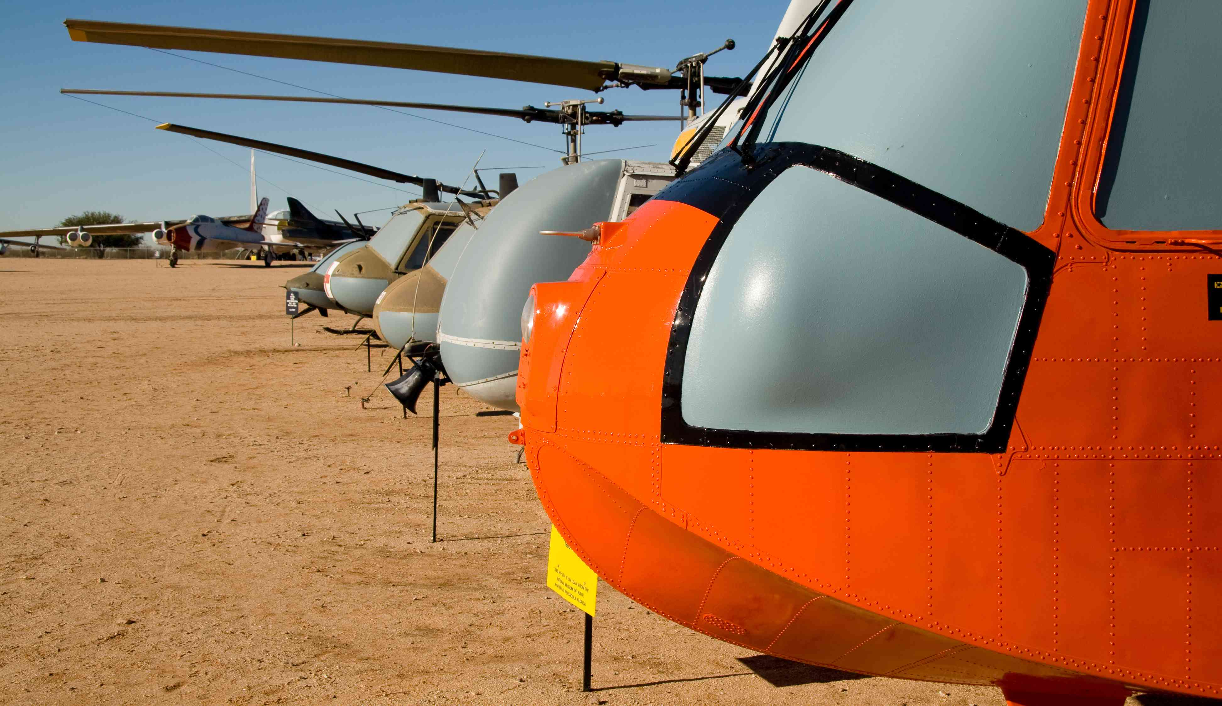 Helicopters at the PIMA Air and Space Museum