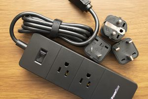 PowerBear Travel Adapter and Surge Protection Strip