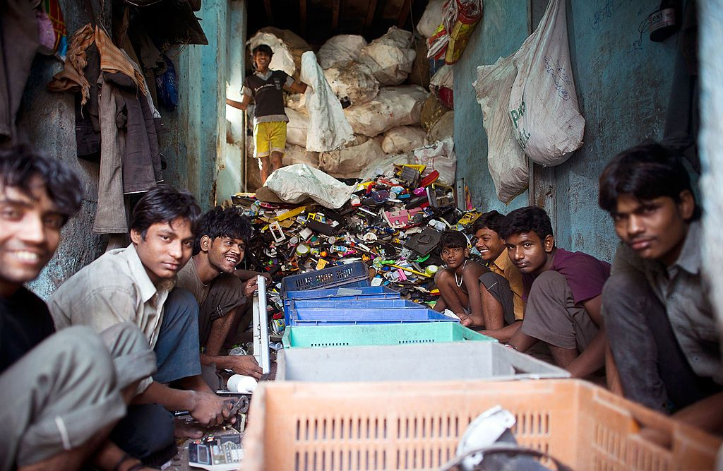 Recycling in Dharavi.