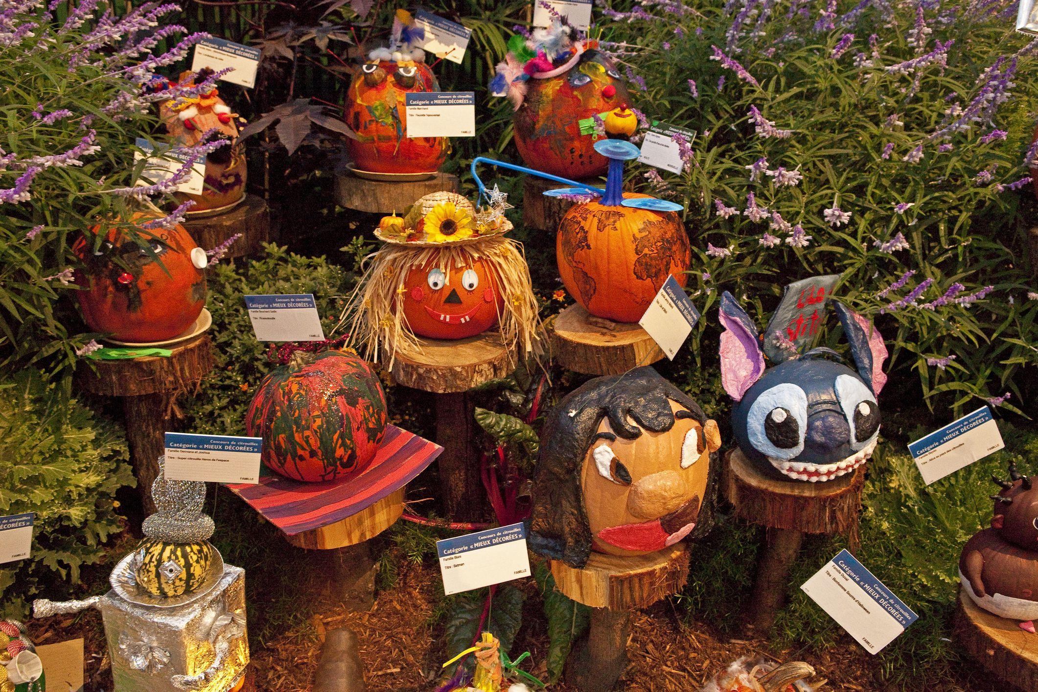Montreal botanic garden at Halloween