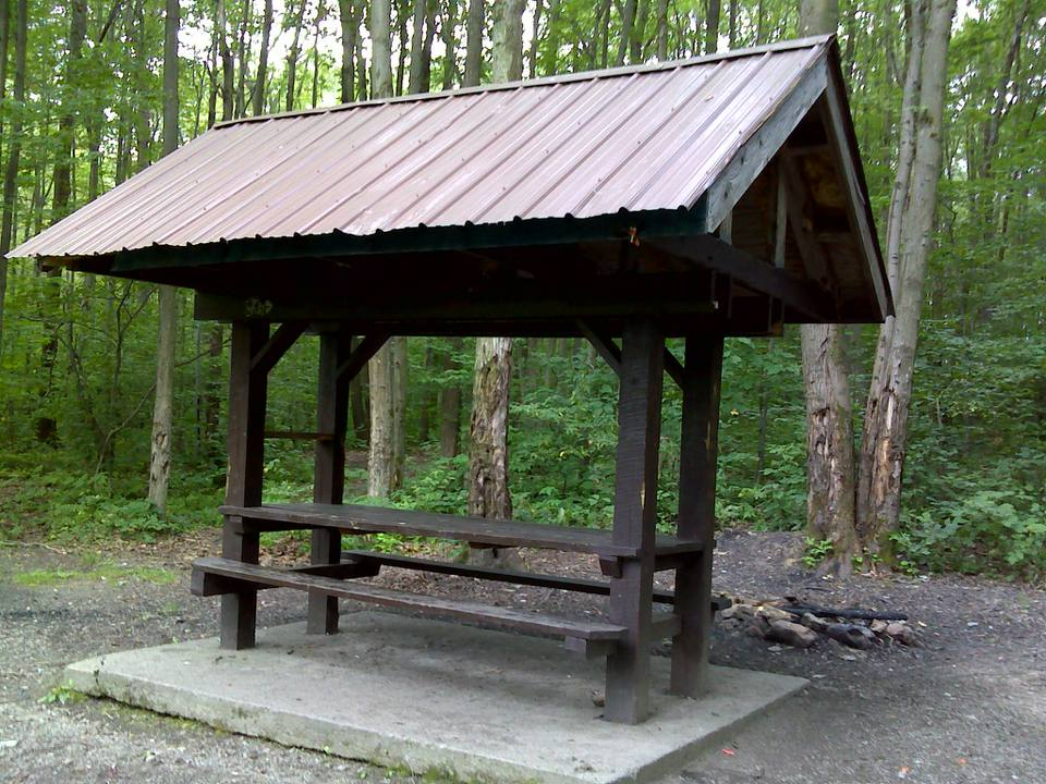 Picnic shelter at park in Little Rock.