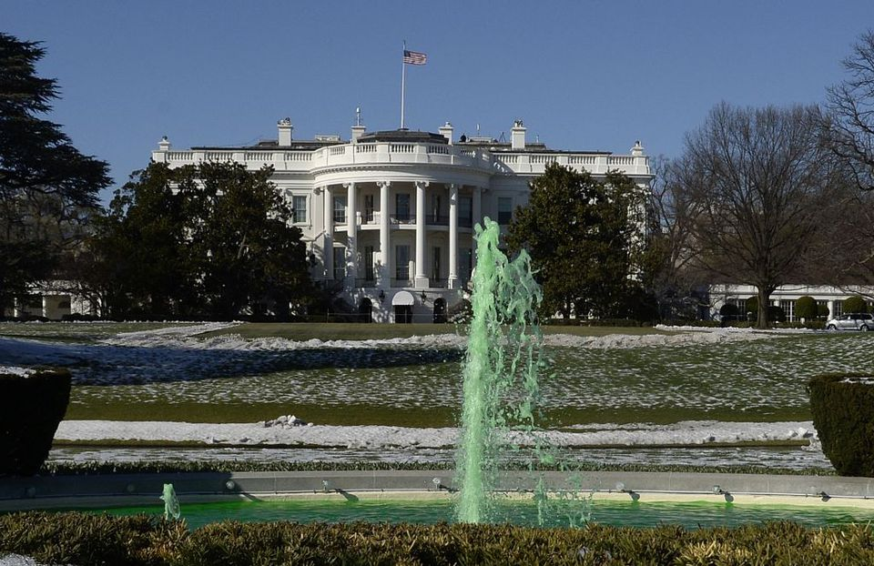 The White House on St. Patrick's Day