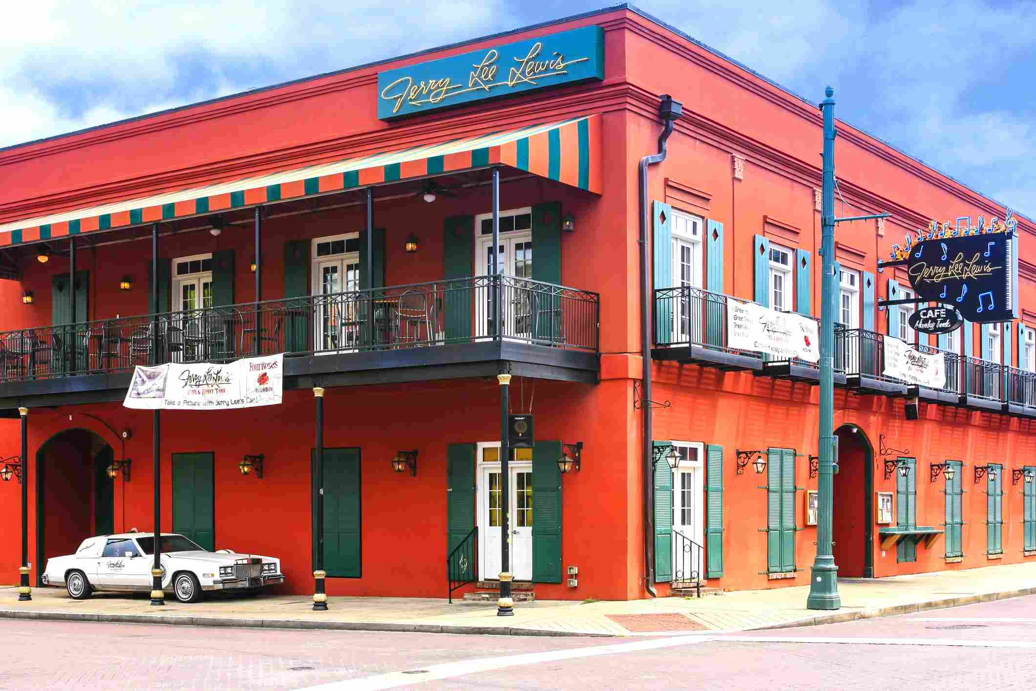 Jerry Lee Lewis Cafe and Honky Tonk club on Beale Street in Memphis, Tennessee