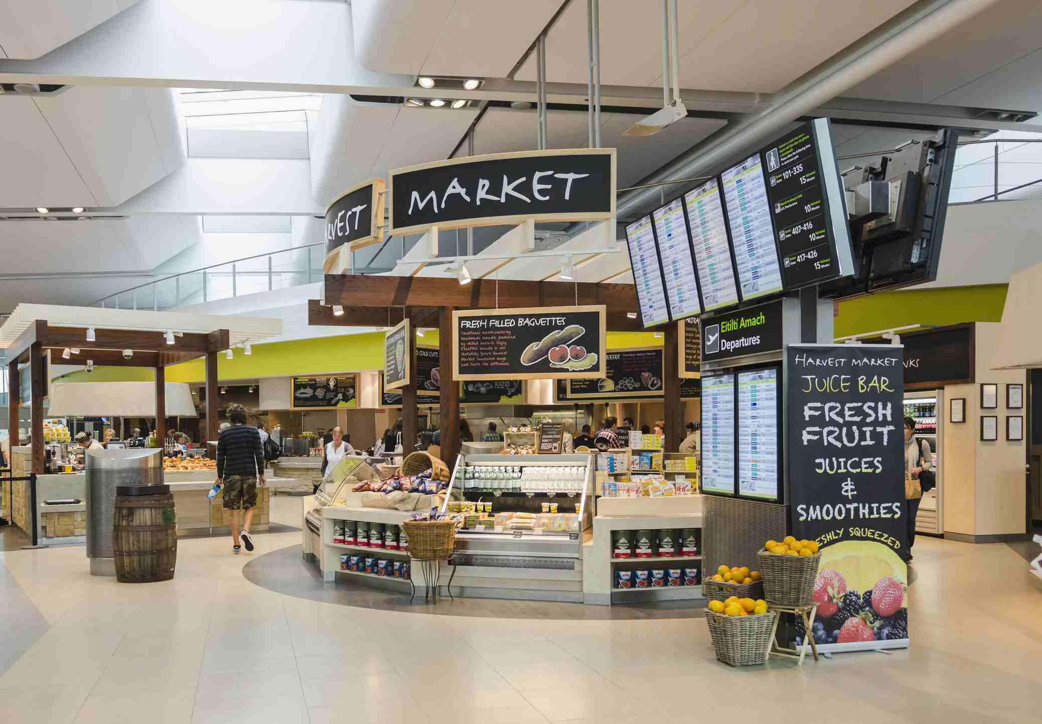 Cafe at Terminal 2, Dublin Airport, Republic of Ireland