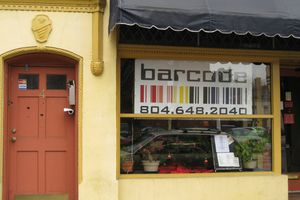 Exterior of the Barcode restaurant in Richmond, Virginia