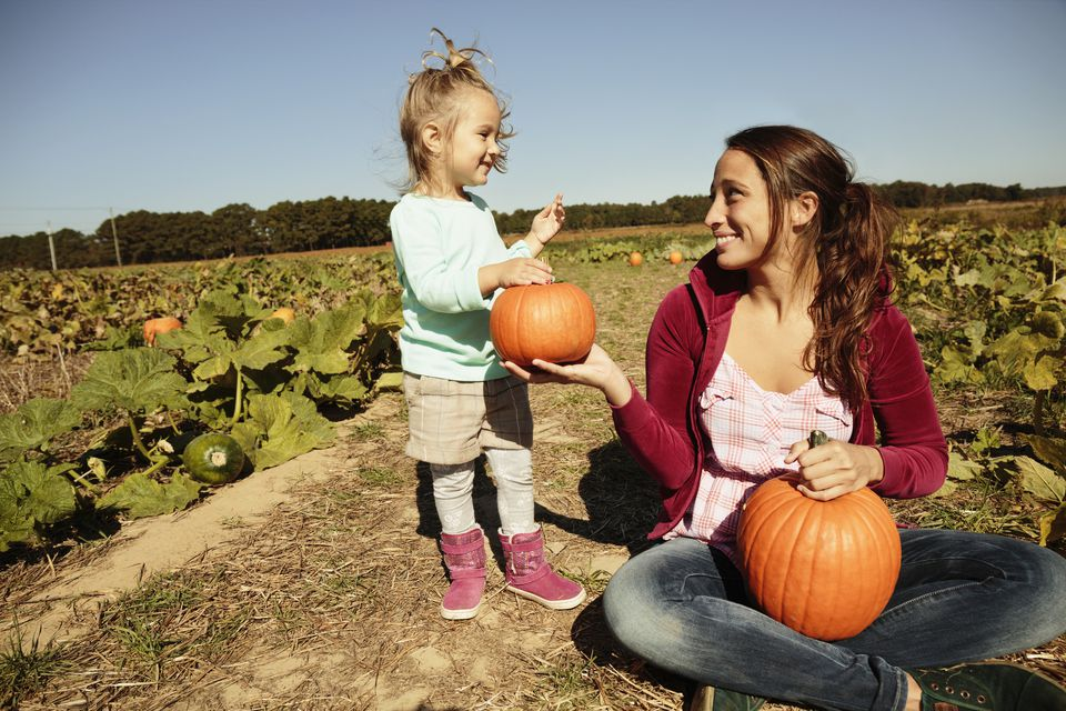Pumpkin Patch mother daughter