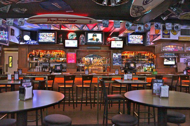 Interior of the Home Plate Bar and Grill in Houston