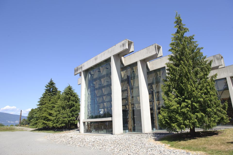 The exterior of the University of British Columbia's museum of Anthropology, designed by architect Arthur Erickson.