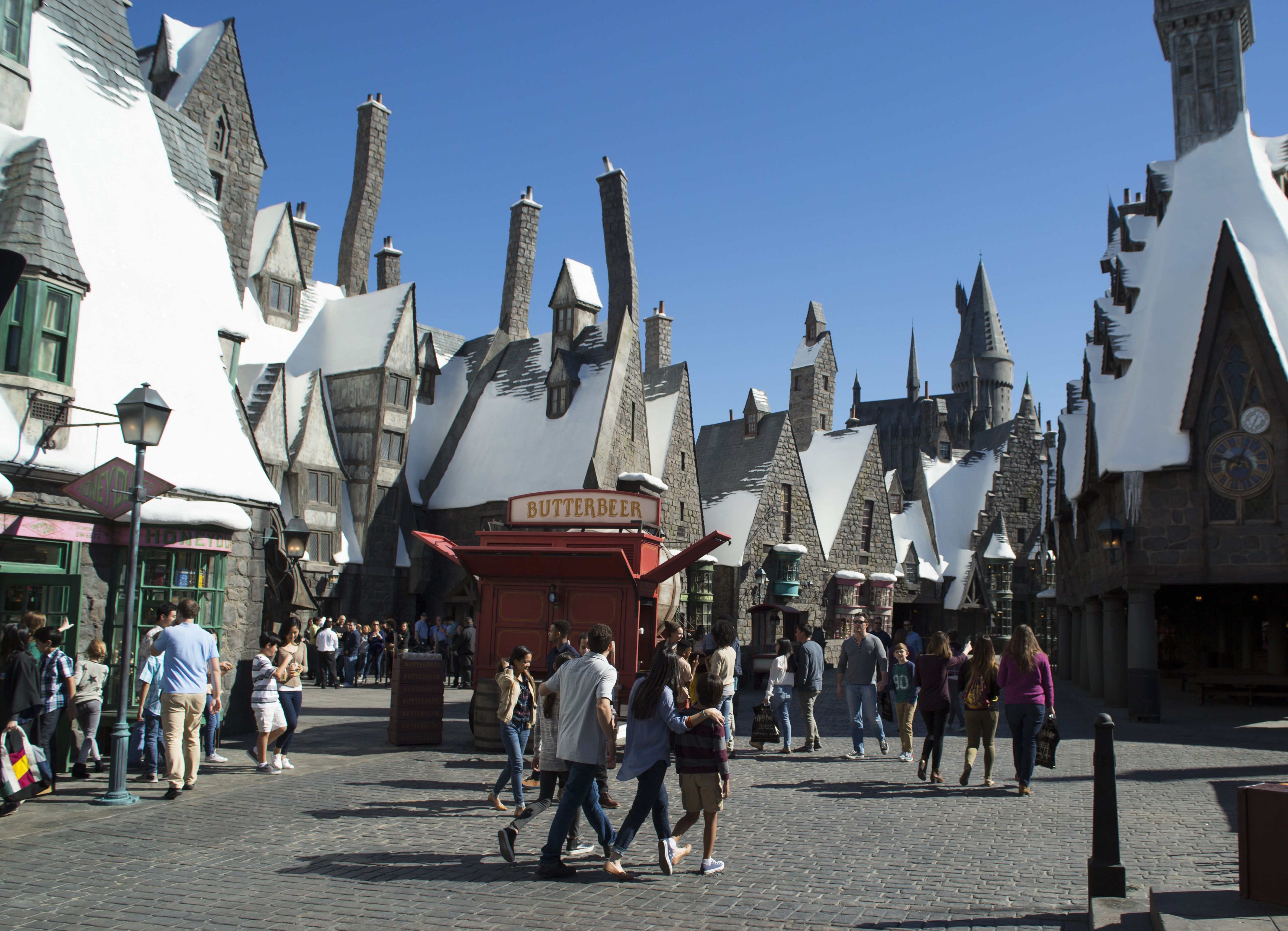 Hogshead Village, part of The Wizarding World of Harry Potter at Universal Studios Hollywood