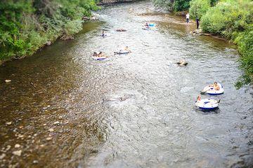 Tubing in Golden's Clear Creek