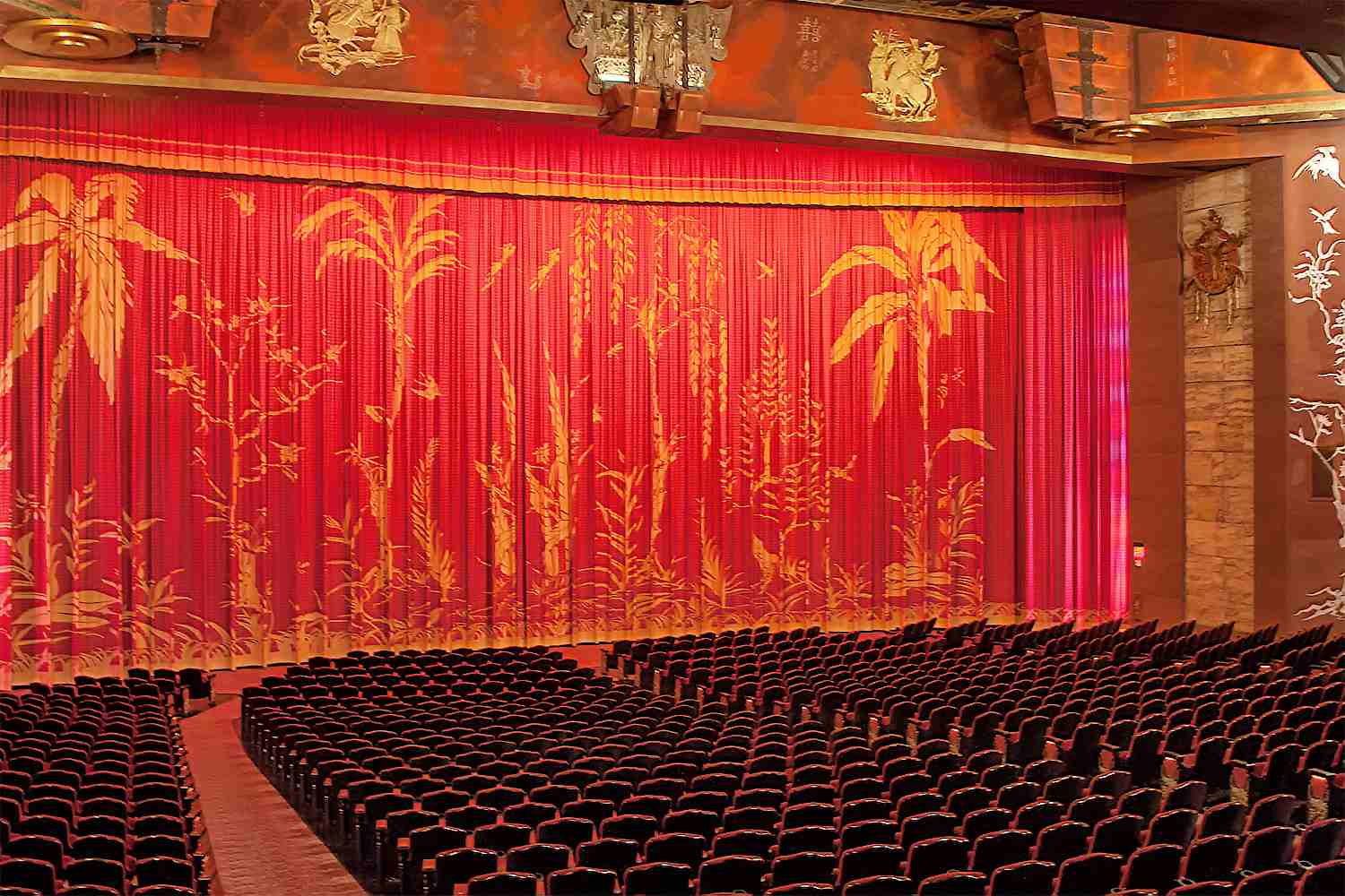 Inside the Chinese Theatre in Hollywood