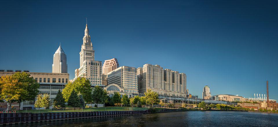 Modern city skyline, Cleveland