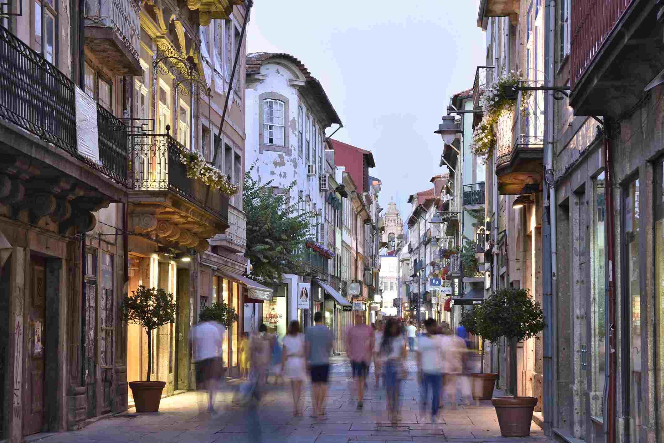 A street in Braga. Portugal