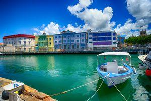 Marina in Bridgetown, Barbados in the Caribbean.