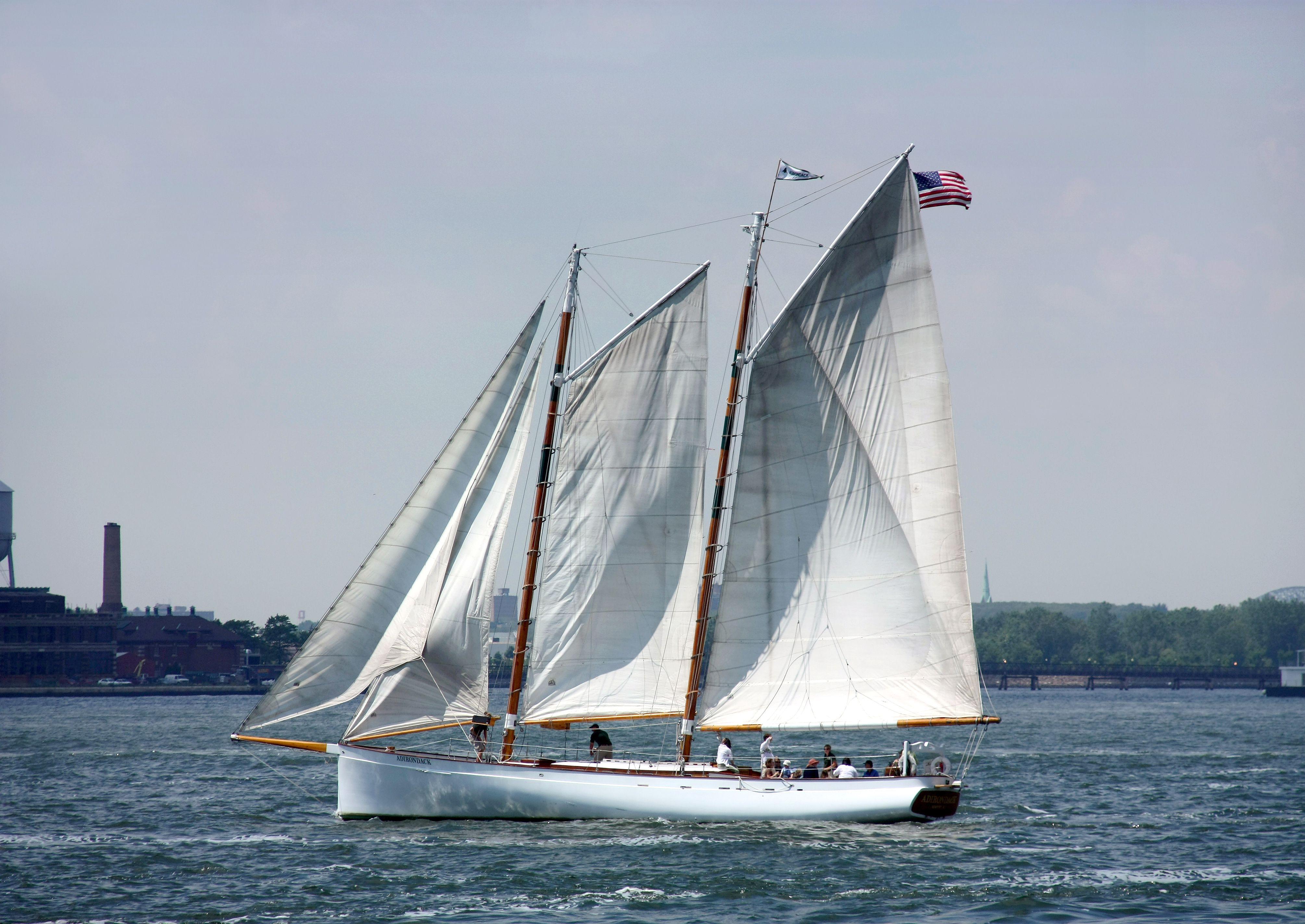The gaff-rigged schooner Adirondack