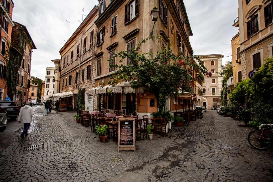 Trastevere neighbourhood in Rome