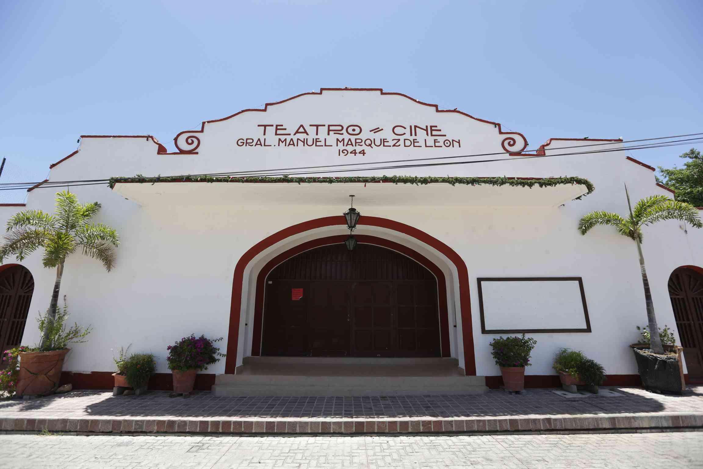 Todos Santos theatre and cinema. Todos Santos Pueblo Magico, Baja California Sur, Mexico.