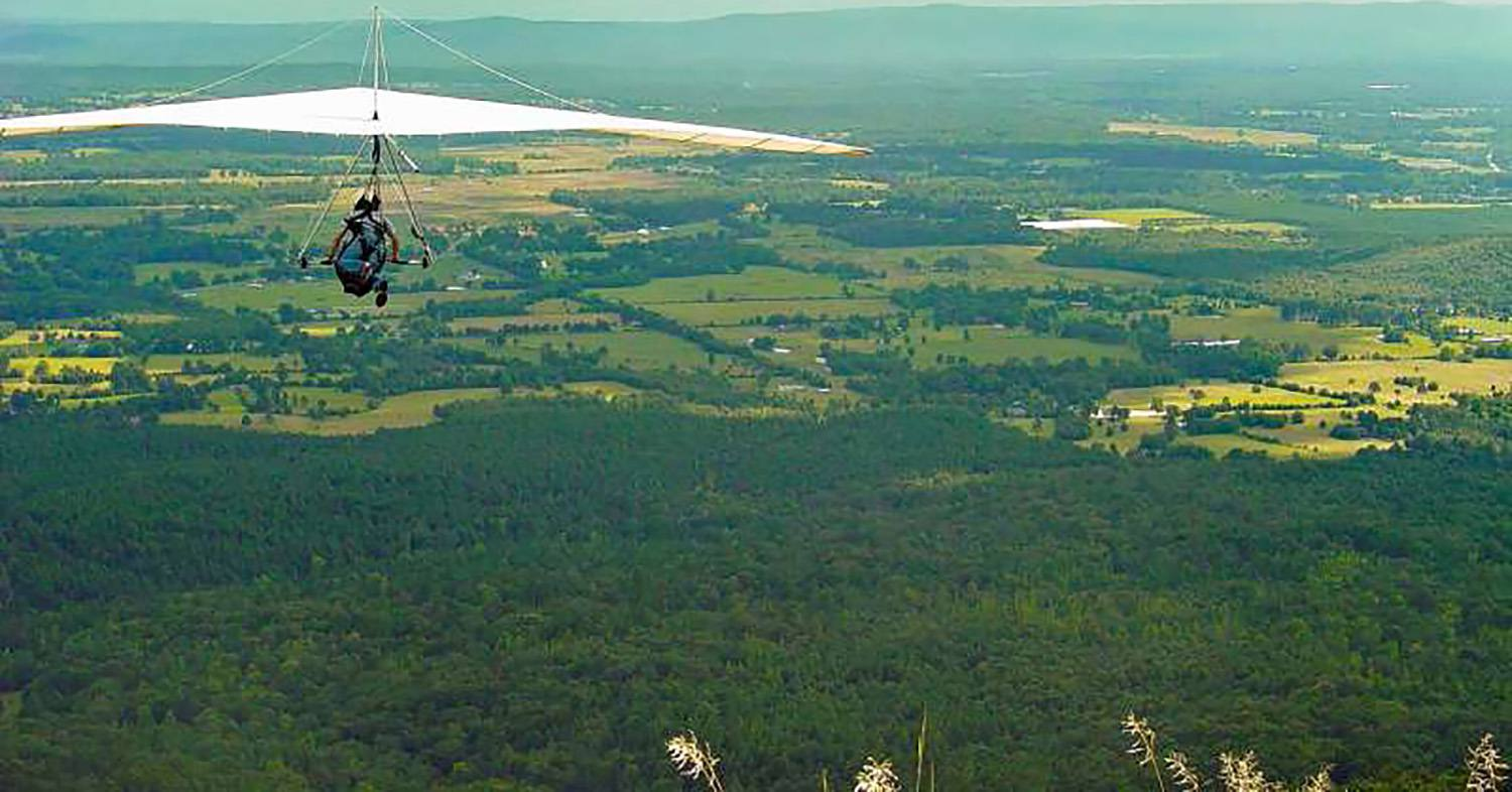 Mount Nebo State Park a launch place for certified hang gliders.