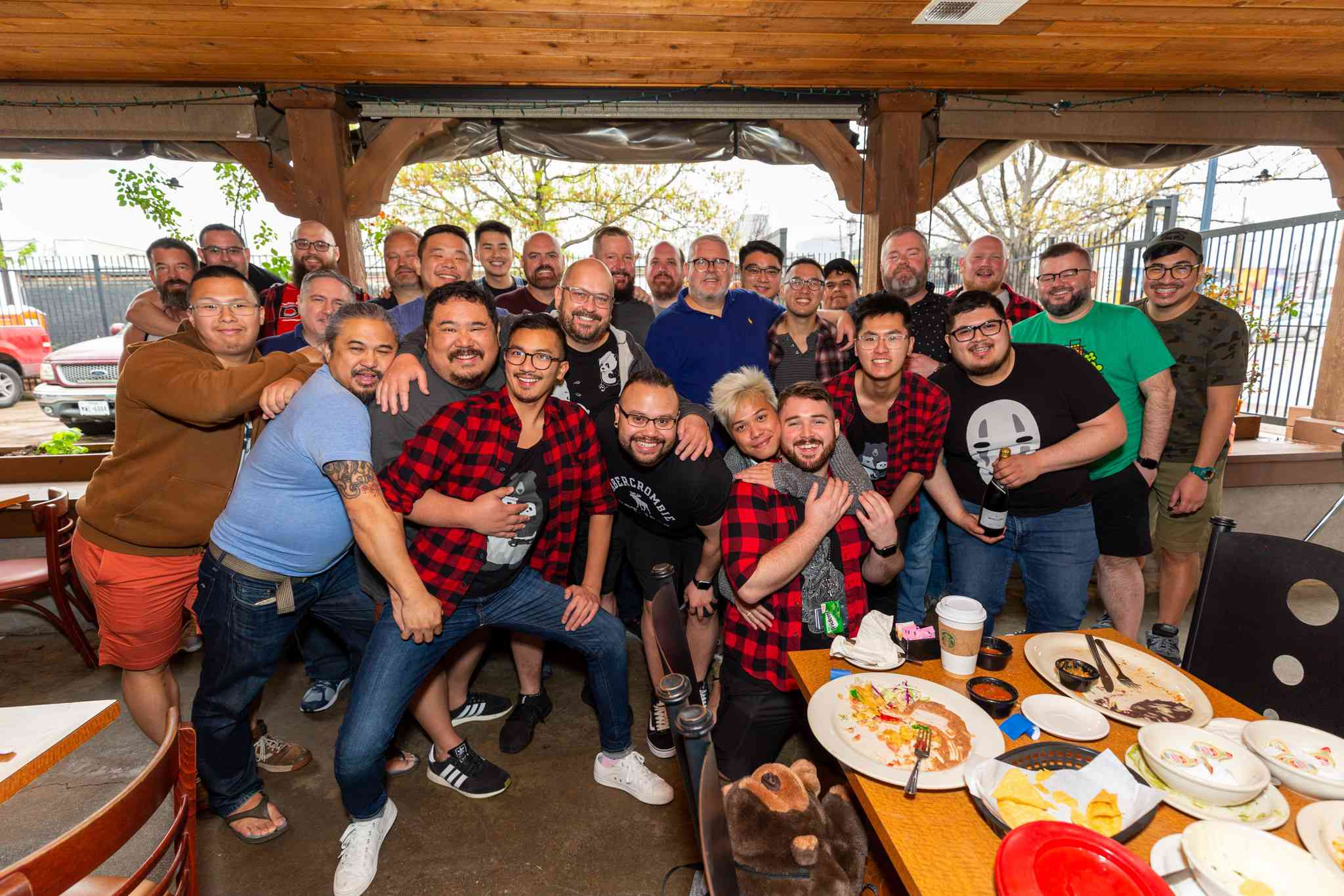 A group of men at the Texas Bear Round-Up