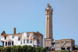 Alcatraz Lighthouse and the Warden's House
