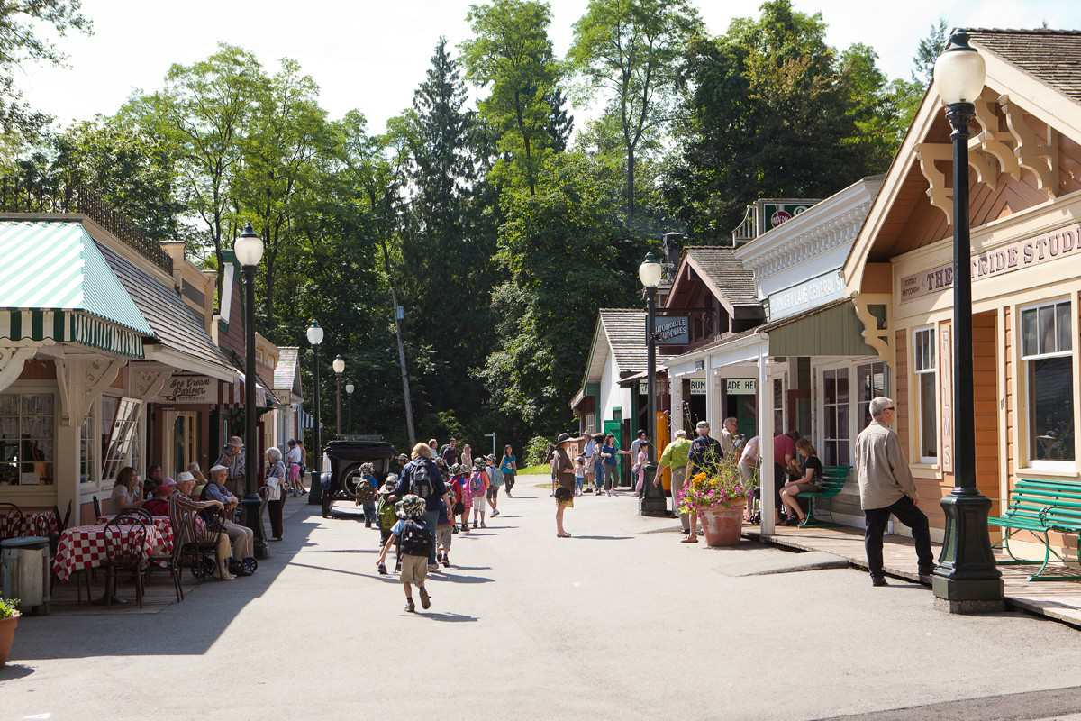 Main Street shops at the Burnaby Village Museum