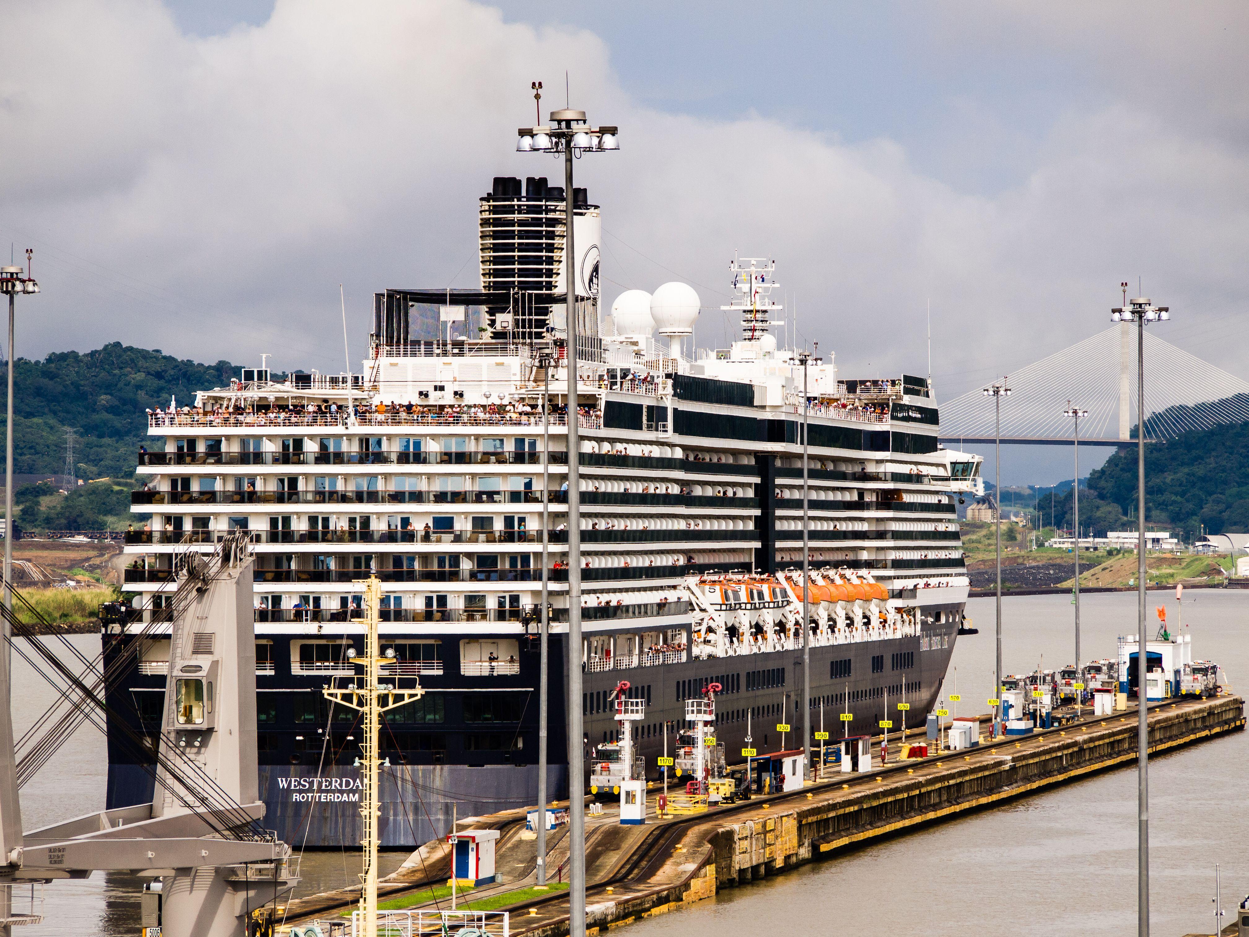 Cruise ship Westerdam transiting the Panama Canal