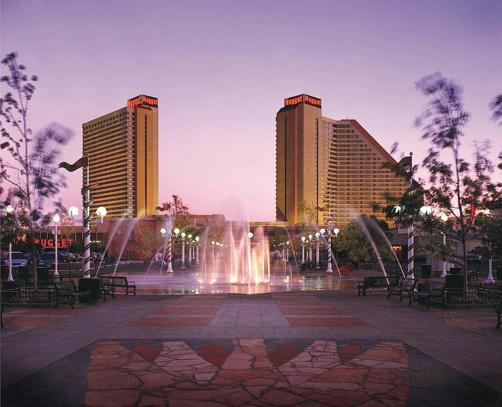 Nugget Casino Resort at twilight