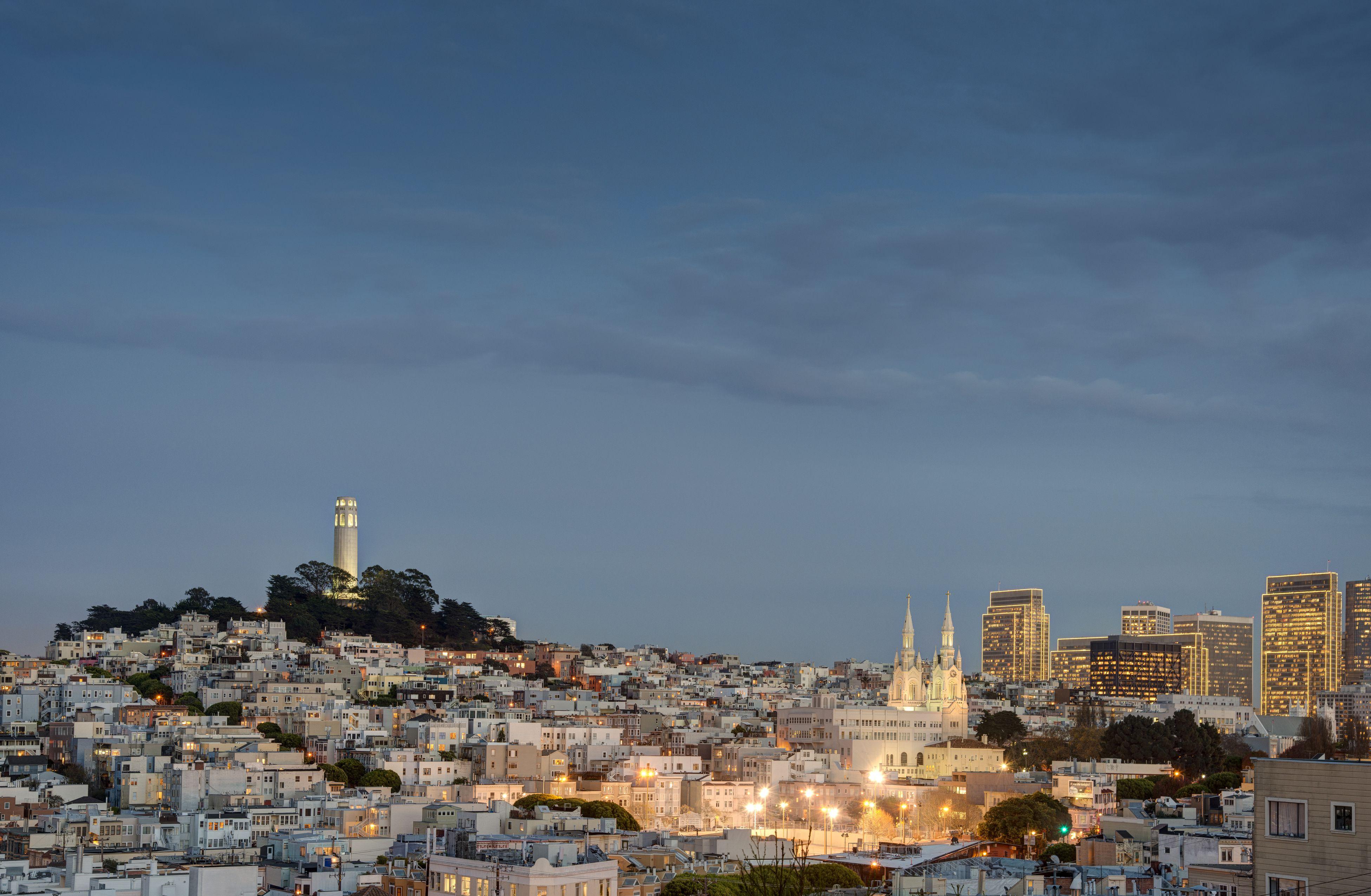 View of San Francisco at dusk