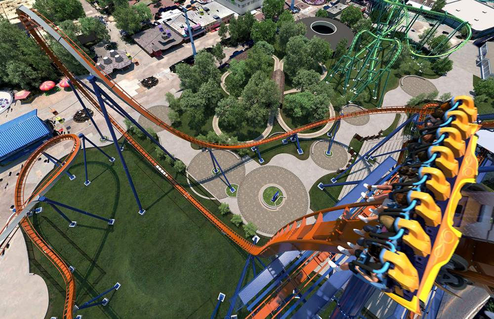 Valravn view from the top of the Dive