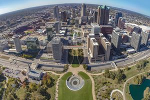 St. Louis from the arch - panorama