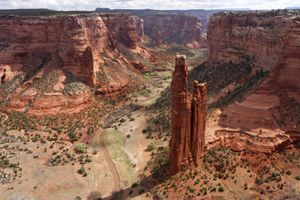 Aerial view of Spider Rock Canyon de Chelly