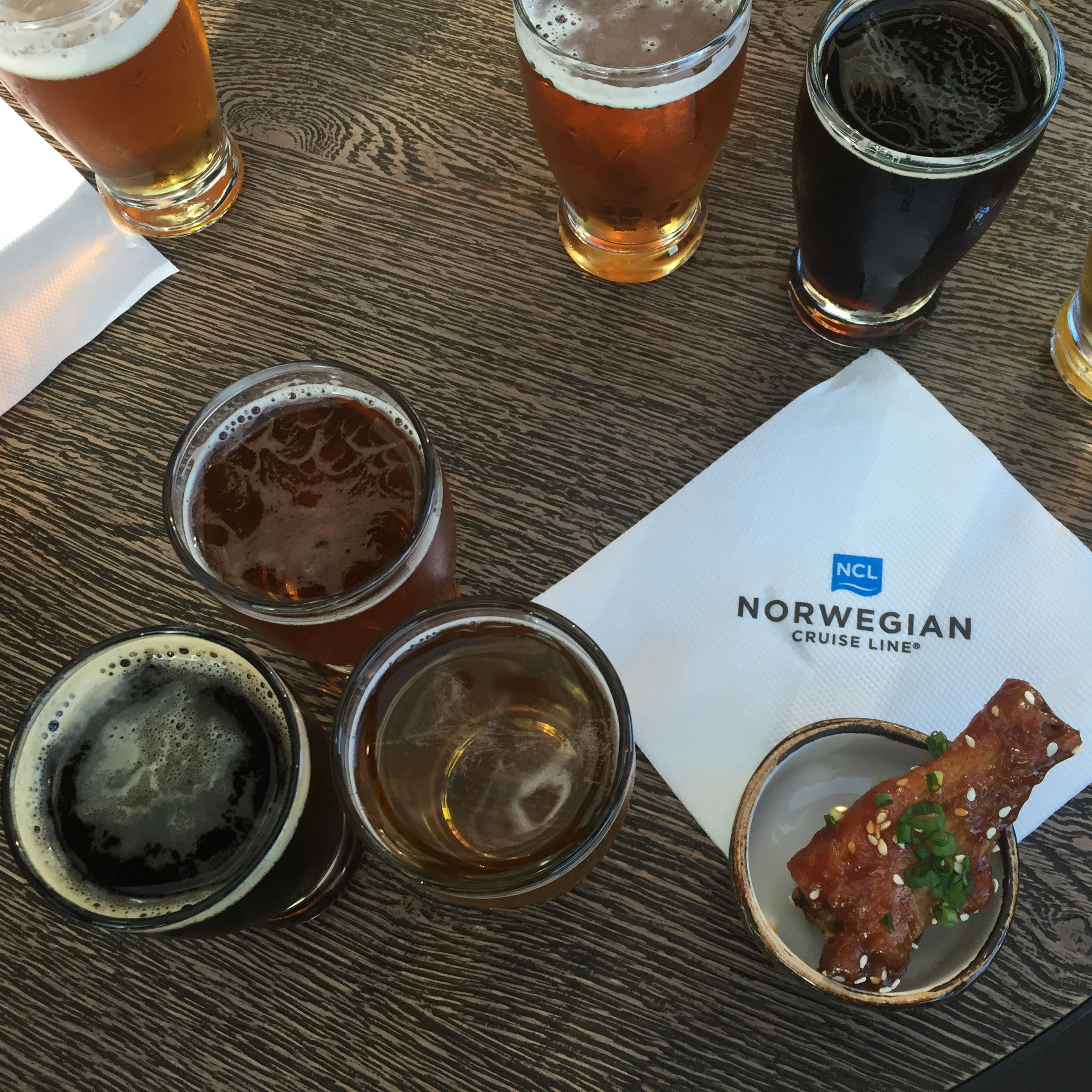 Beer Tasting at the District Brew House on the Norwegian Escape