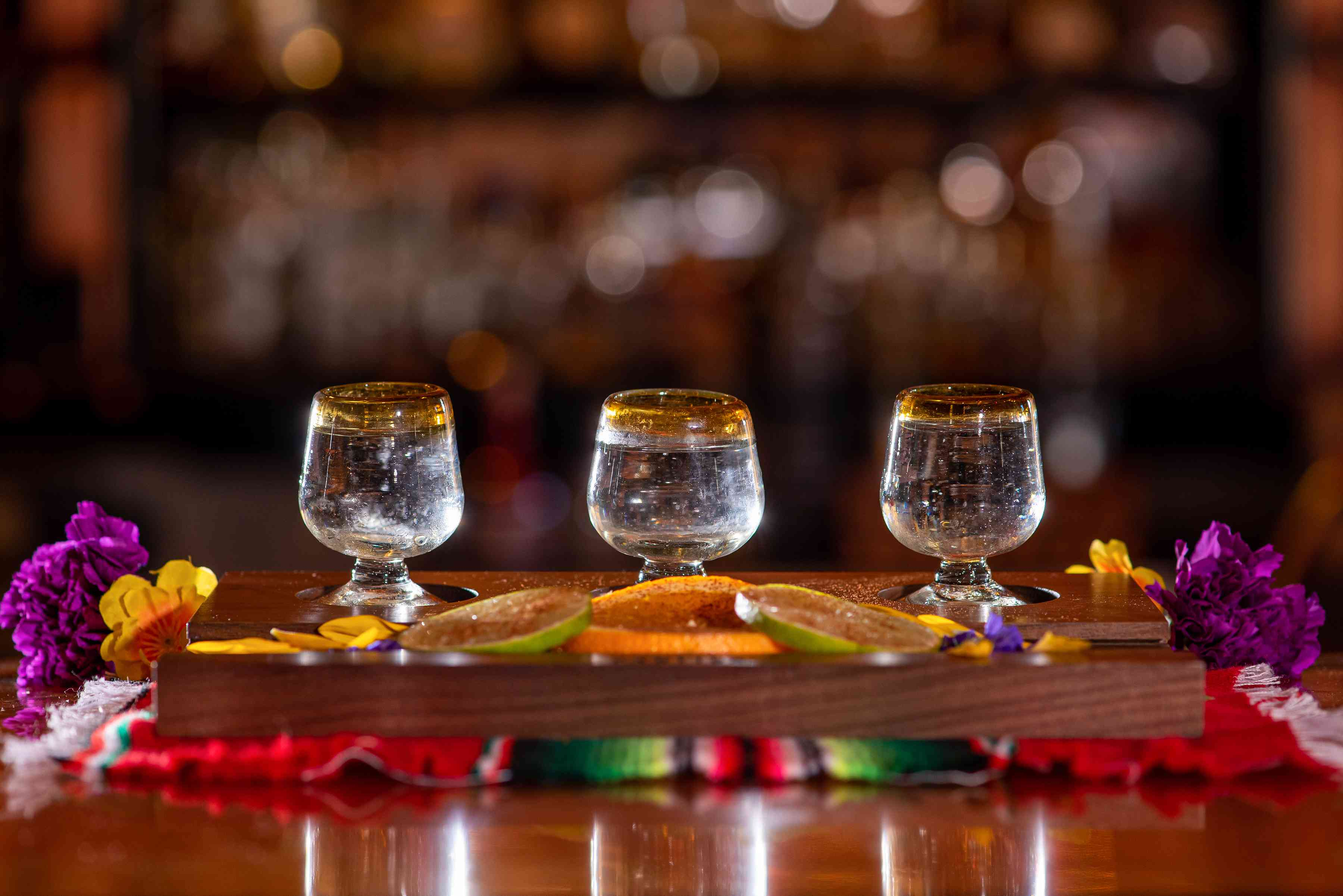 A Flight of Tequila and Mezcal