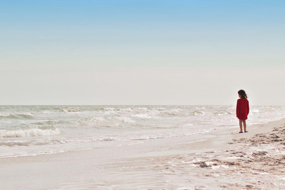girl on beach on captiva island