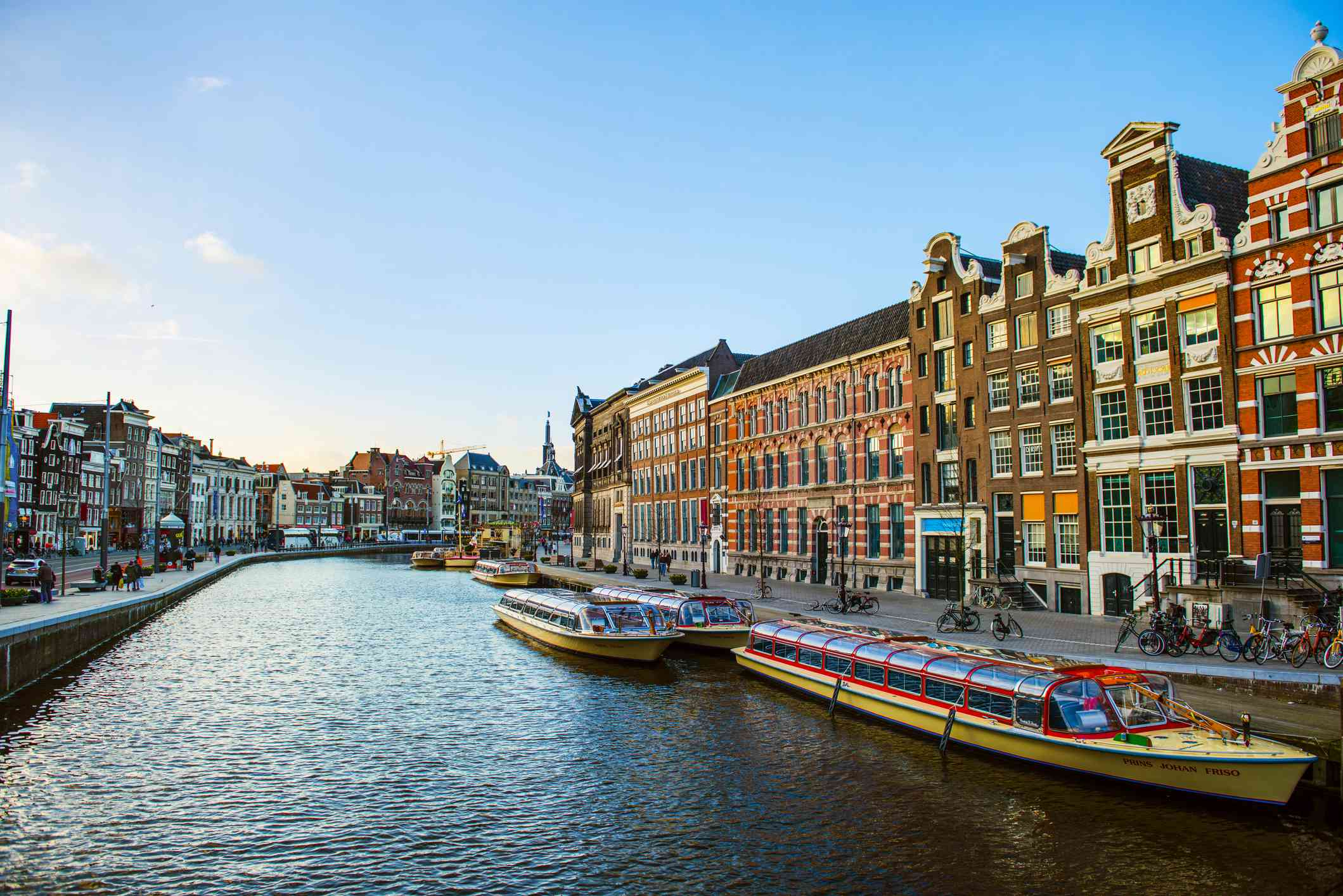 Canal view of Amsterdam