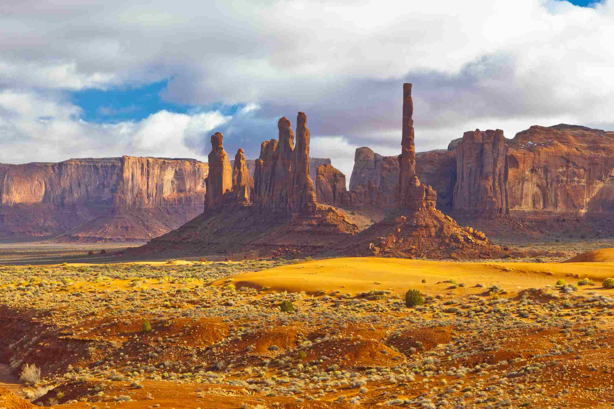 El tótem en Monument Valley