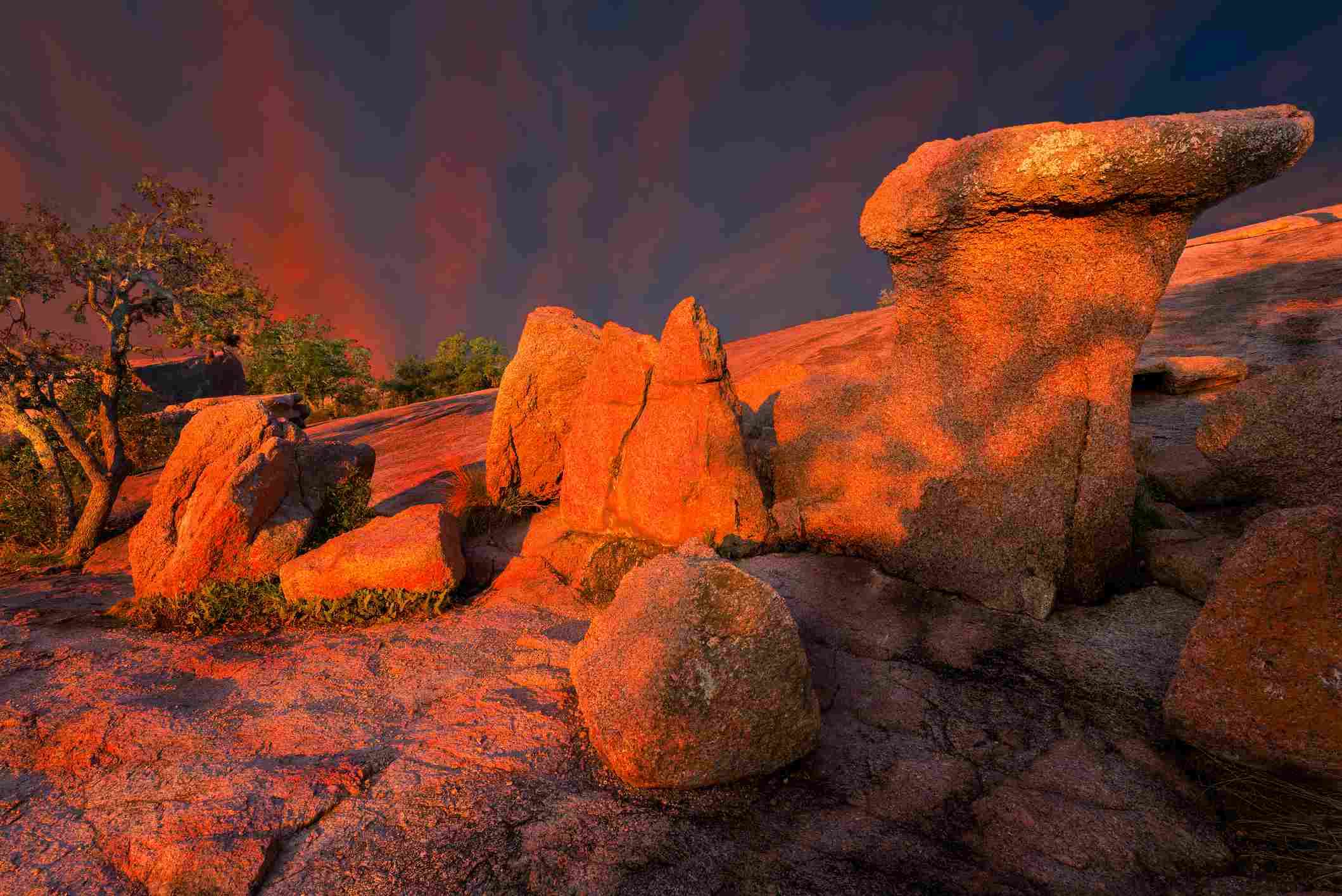 Early Morning at Enchanted Rock State Park, Texas