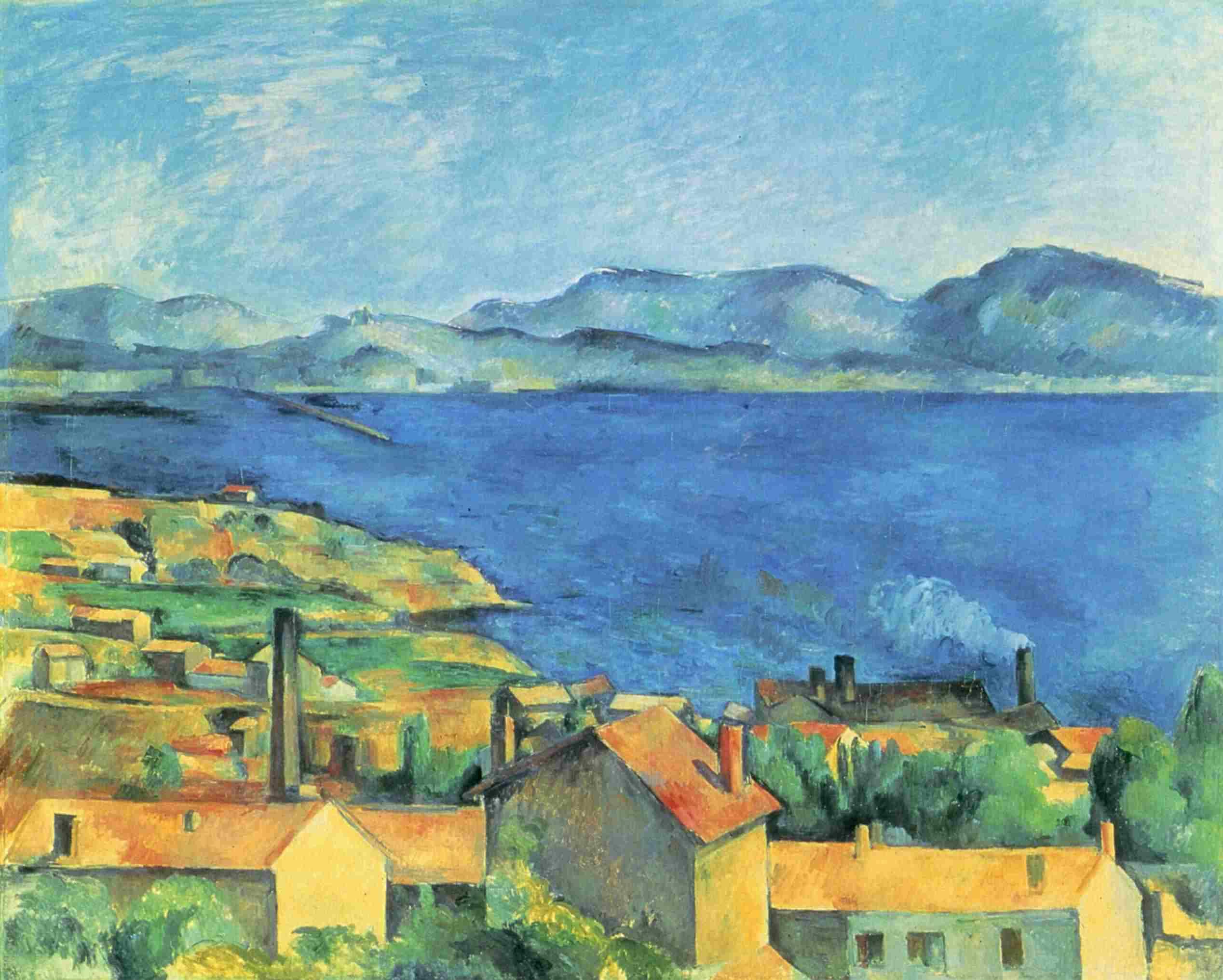 Paul Cézanne (1839-1906) El Golfo de Marsella de L'Estaque, también llamado, L'Estaque entre 1878 y 1879