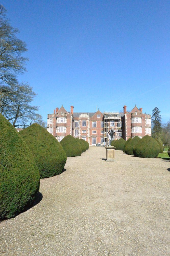 Approach to Burton Agnes Hall