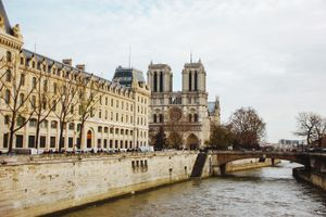 View of Notre Dame Cathedral from the river