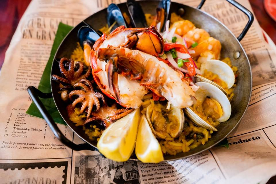 seafood paella from Cuba Libre Restaurant & Rum Bar