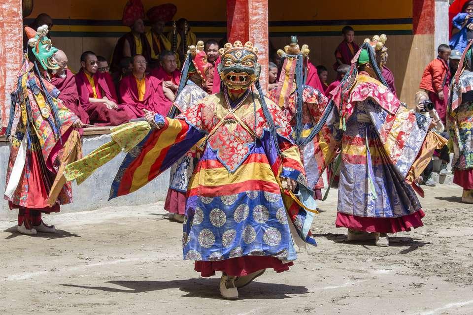 Yuru Kabgyat Buddhist festival at Lamayuru Gompa, Ladakh