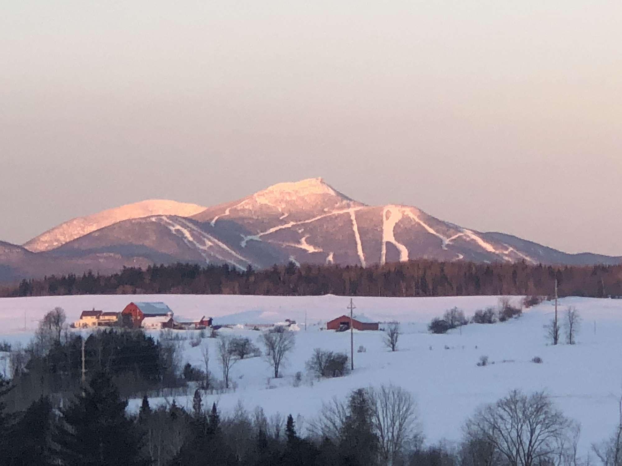 Jay Peak in Vermont at Sunrise