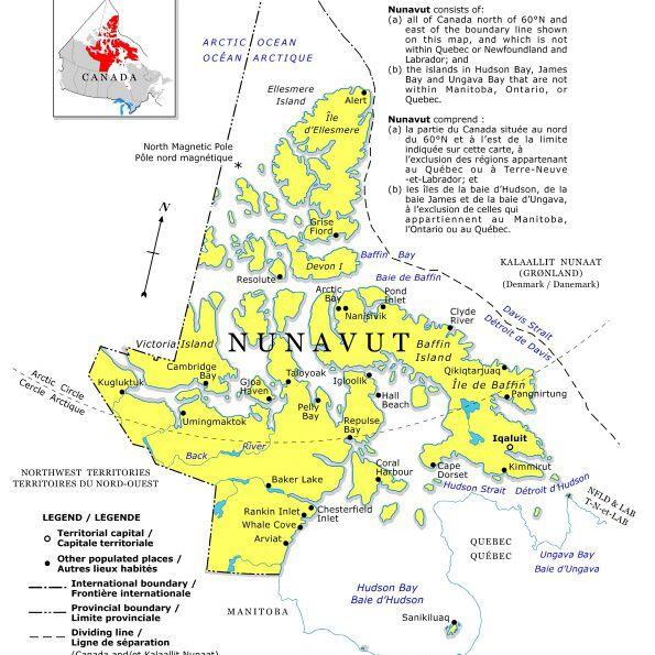 Mapa de Nunavut