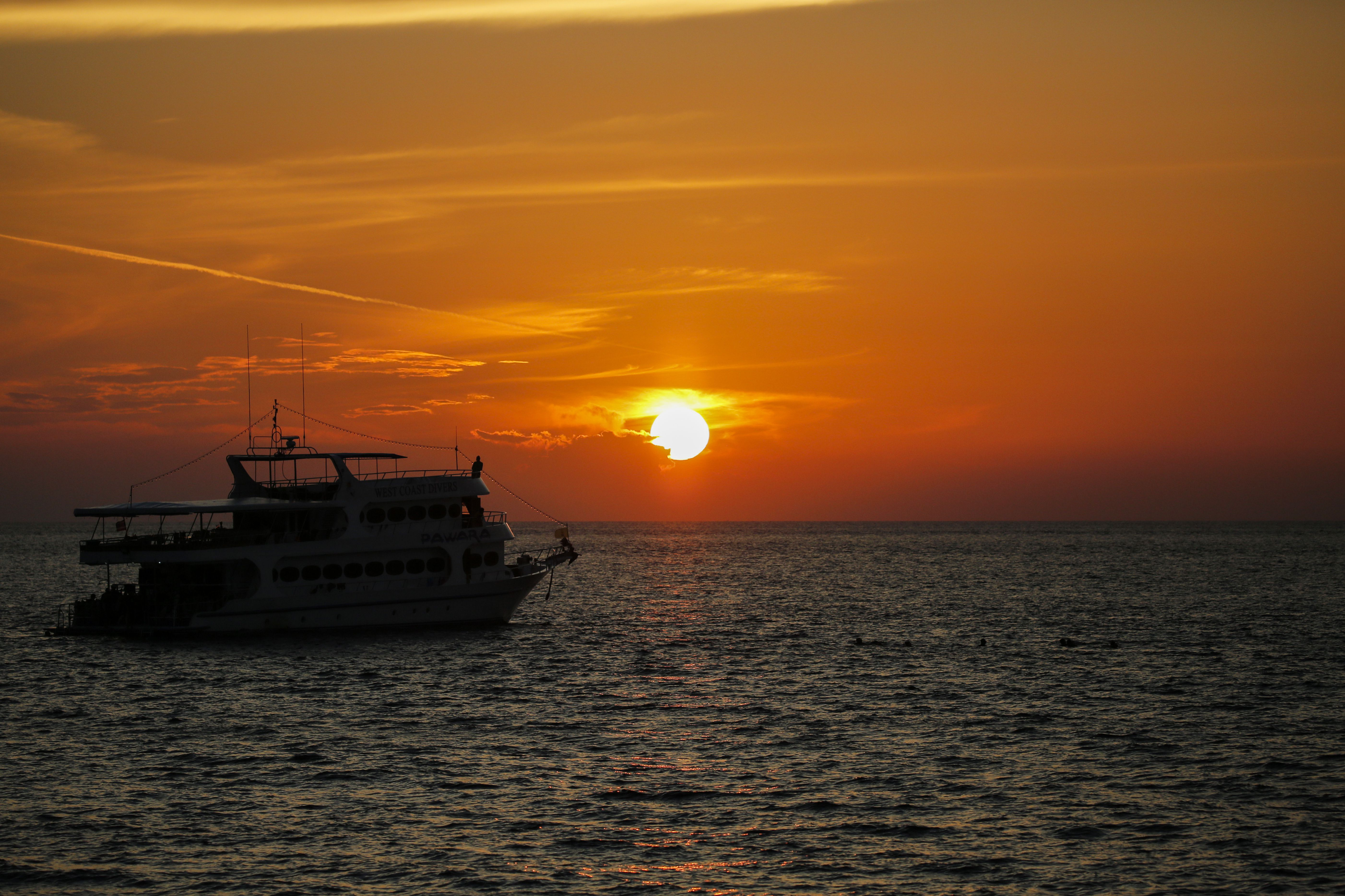 A sunset in Thailand